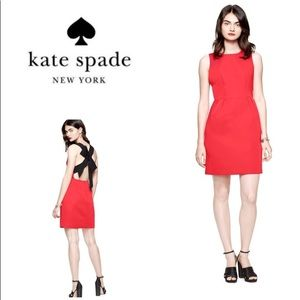 NWT Kate Spade Bow back red dress